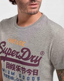 Superdry Vintage Logo T-Shirt - Μ1010344A - ΓΚΡΙ