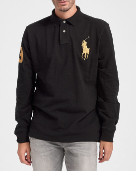 Polo Ralph Lauren Polo Long Sleeve - 710766856002 - ΜΑΥΡΟ