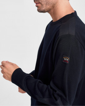 Paul & Shark Πλεκτό Knitted Pullover - C0P1026 - ΜΠΛΕ