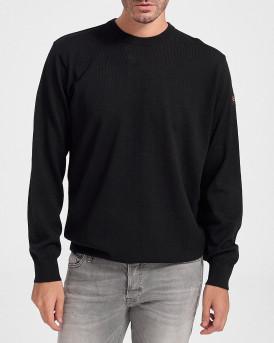 Paul & Shark Πλεκτό Knitted Pullover - C0P1040 - ΜΑΥΡΟ