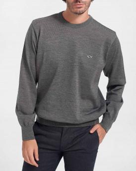 Paul & Shark Πλεκτό Knitted Pullover - C0P1094 - ΓΚΡΙ