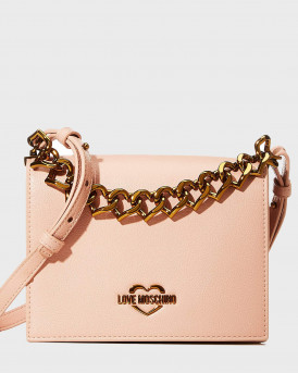 Love Moshino Τσάντα The New Chain Heart Crossbody - JC4099PP1BLΟ0 - ΡΟΖ