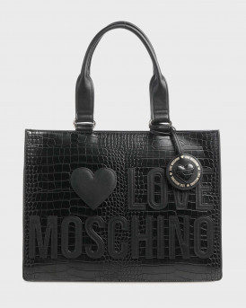 Love Moshino Τσάντα Lovers Of Shopping Handbag - JC4056PP1BLH1 - ΜΑΥΡΟ