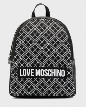Love Moschino Σακίδιο Πλάτης Ιntarsia-knit Logo Backpack - JC4075PP1BLL1 - ΑΣΠΡΟ