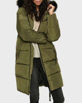 ONLY ΜΠΟΥΦΑΝ LONG PUFFER JACKET - 15205637 - ΛΑΔΙ