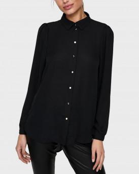 Only Πουκάμισο Shirt - 15212794 - ΜΑΥΡΟ
