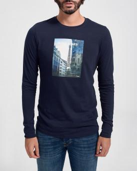 Jack & Jones Mπλούζα Longsleeve T-Shirt - 12175090 - ΜΠΛΕ