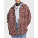 Scotch & Soda Σακάκι Wool-blend Τweed Shirt Jacket - 159197 - ΑΣΠΡΟ