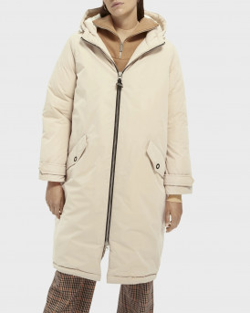 Scotch & Soda Μπουφάν Oversized Longer-Length Parka - 159139 - ΜΠΕΖ