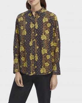 Scotch & Soda Πουκάμισο Cotton-blend Long Sleeve Shirt - 158902 - MULTI