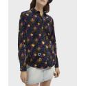 Scotch & Soda Πουκάμισο Printed Velvet Button-down Shirt - 158907 - ΜΠΛΕ