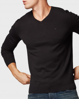 Tom Tailor Πλεκτό Simple Knitted Jumper - 1012820.XX.10 - ΜΑΥΡΟ