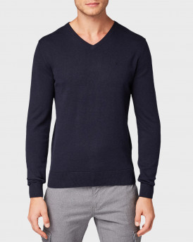 Tom Tailor Πλεκτό Simple Knitted Jumper - 1012820.XX.10 - ΜΠΛΕ
