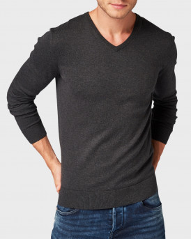 Tom Tailor Πλεκτό Simple Knitted Jumper - 1012820.XX.10 - ΓΚΡΙ