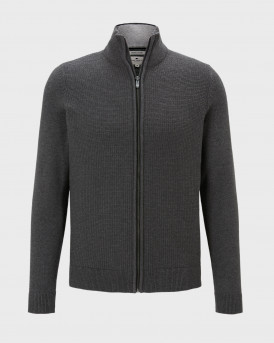 Tom Tailor Ζακέτα Structured Knitted Jacket - 1020418.XX.10 - ΑΝΘΡΑΚΙ