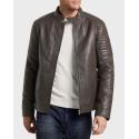 Tom Tailor Δερμάτινο PU Faux Leather Biker Jacket - 1019698.ΧΧ.10 - ΜΑΥΡΟ