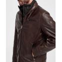 Milestone Δερμάτινο Jacket - 301063 20040 ΜΑΝUEL - ΜΑΥΡΟ
