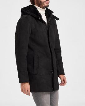 Oakwood Παλτό Hoodie Jacket - DYLAN 63285 - ΜΑΥΡΟ