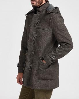 Rook Μοντγκόμερυ Παλτό Wool-blend Coat - 107.16 ΝΕW CΕΝΤ - ΓΚΡΙ