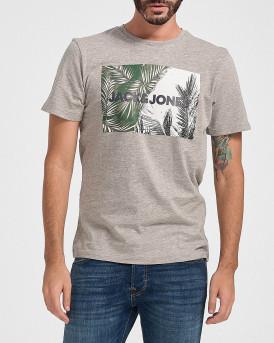 Jack & Jones Jorstein T-Shirt Crew Neck - 12174356 - ΓΚΡΙ