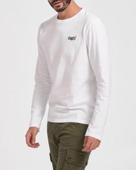 Superdry Mπλούζα Vintage Longsleeve T-Shirt - Μ6010119A - ΑΣΠΡΟ