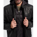 Milestone Clint Leather Jacket - 301089 20195 CLINT - ΜΑΥΡΟ
