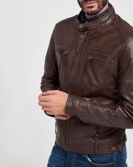 Oakwood Casey Δερμάτινο Jacket - CASEY 60901 - ΚΑΦΕ