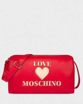 LOVE MOSCHINO ΤΣΑΝΤΑ BOSTON PADDED HEART BAG - JC4039PP1BLE0 - ΚΟΚΚΙΝΟ