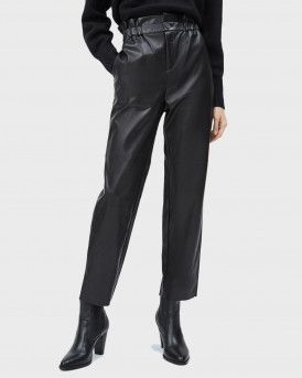 PEPE JEANS ΠΑΝΤΕΛΟΝΙ PU NIKA ECOLEATHER TROUSERS - PL211412  - ΜΑΥΡΟ