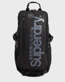 Superdry Σακίδιο Πλάτης Detroit Hardy Tarp Bag - Μ9110204Α - ΜΑΥΡΟ