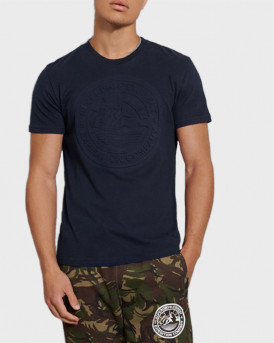 Superdry Everest T-Shirt - M1010378A - ΜΠΛΕ