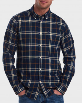 Barbour Πουκάμισο Highland Check 20 Tailored Shirt - 3BRMSH4555 - ΜΠΛΕ