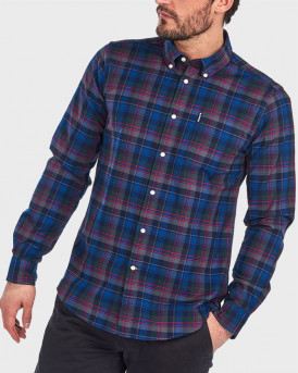 Barbour Πουκάμισο Highland Check 11 Tailored Shirt - 3BRMSH4549 - ΜΠΛΕ