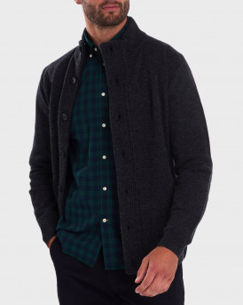 Barbour Ζακέτα Patch Zip Thru Sweater - 3BRMΚΝ0731 - ΓΚΡΙ
