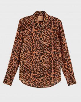 Scotch & Soda Πουκάμισο Animal Print Long Sleeve Shirt - 158918 - ΚΑΦΕ