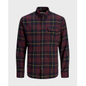 JACK & JONES EMMERSON SHIRT LS - 12174065 - ΜΠΛΕ