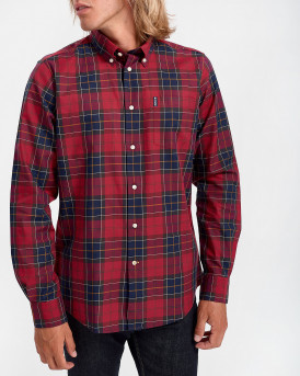 Barbour Πουκάμισο Long Sleeve Wetheraw Shirt - 3BRMSH4283 - ΚΟΚΚΙΝΟ