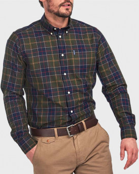 Barbour Πουκάμισο Long Sleeve Wetheraw Shirt - 3BRMSH4283 - ΠΡΑΣΙΝΟ
