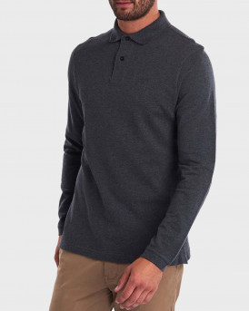 Barbour Sports Polo Long Sleeve - 3BRMML0705 - ΓΚΡΙ