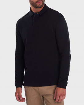 Barbour Sports Polo Long Sleeve - 3BRMML0705 - ΜΑΥΡΟ