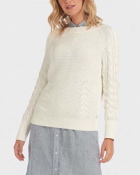 Barbour Πλεκτό Tern Sweater - 3BRLKN1050 - ΑΣΠΡΟ
