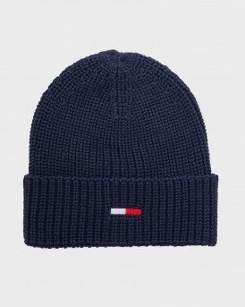 Tommy Hilfiger Σκούφος Basic Flag Ribbed Beanie - AM0AM05191 - ΜΠΛΕ