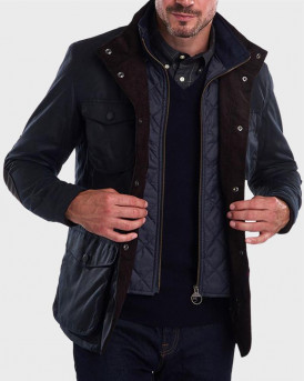 Barbour Μπουφάν Ogston Wax Jacket - 3BRMWX0700 - ΜΠΛΕ