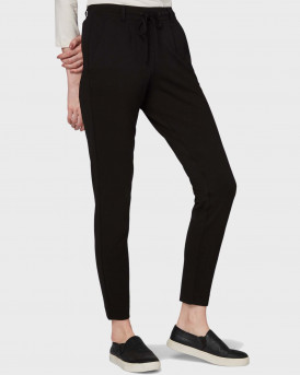 TOM TAILOR ΠΑΝΤΕΛΟΝΙ CASUAL MATERIAL TROUSERS - 1008375.XX.70 - ΜΑΥΡΟ