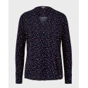 Tom Tailor Μπλούζα V-Neck Long Sleeved - 1021131.XX.77 - ΜΠΛΕ