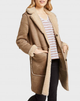 TO TAILOR ΠΑΛΤΟ SHEARLING REVERSIBLE FAUX FUR COAT - 1020616.XX.70 - ΚΑΦΕ