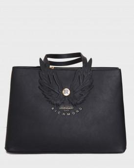 John Richmond Τσάντα Shopper Bag Carlit - RWA20463BO  - ΜΑΥΡΟ