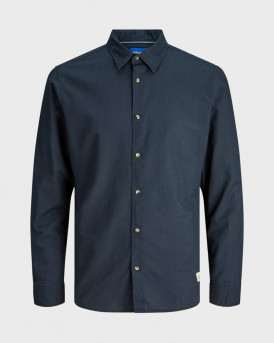 JACK & JONES JORLENNY SHIRT LS LTN - 12179483 - ΜΠΛΕ
