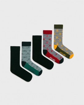 JACK & JONES ΚΛΑΤΣΕΣ OUTDOOR SOCK 5 PACK - 12180967 - MULTI