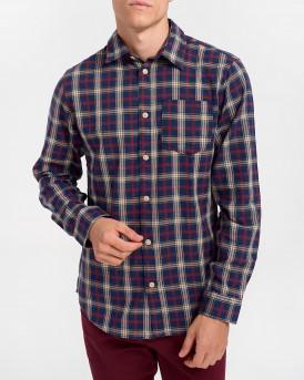 Selected Πουκάμισο Checked Shirt - 16075038 - ΜΠΟΡΝΤΩ